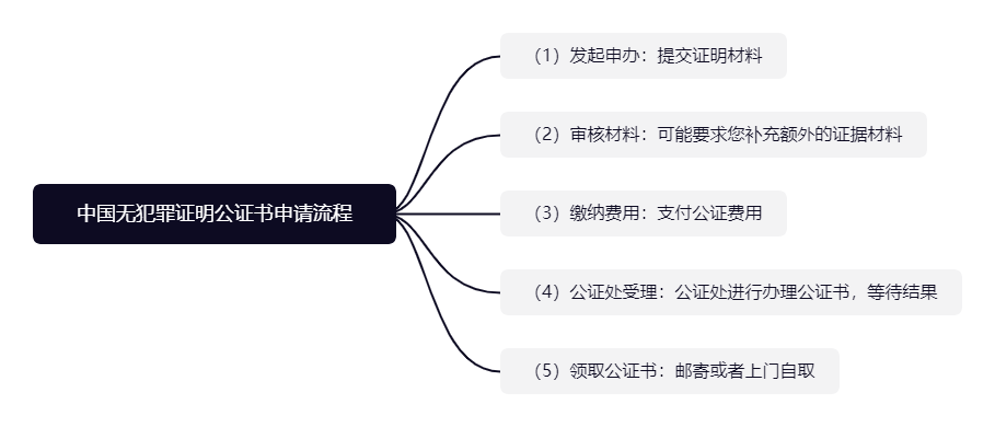 中国无犯罪记录证明公证书申请流程是什么?cnpo代办
